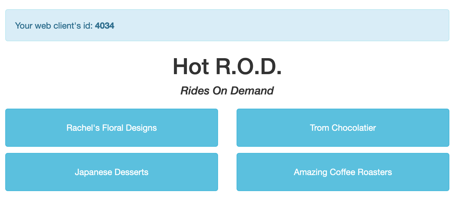 HotROD web interface